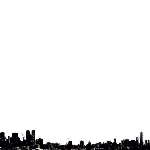NYC View from Across the Hudson - BW