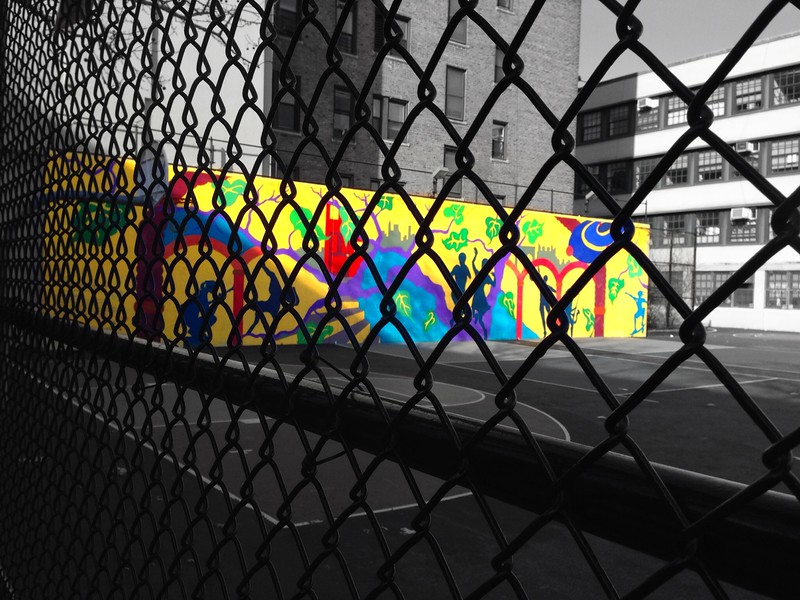Schoolyard with Color Splash