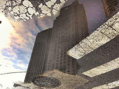 Street Reflection - upside down