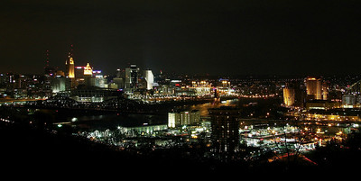 A view of Cincinnati At Night
