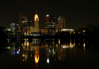 Night View of Columbus Ohio