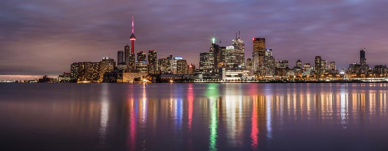 Toronto Canada at Sunset