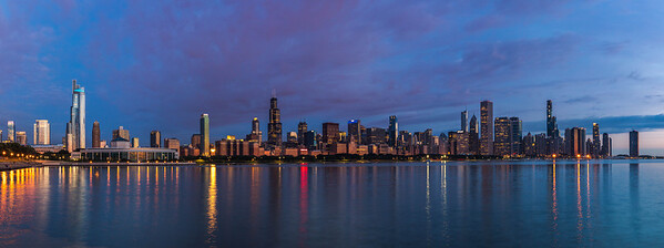 Blue hour Chicago