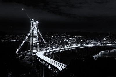East Span in Progress BW San Francisco, CA