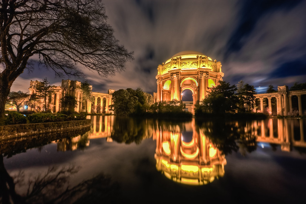 Night at the Palace of Fine Arts
