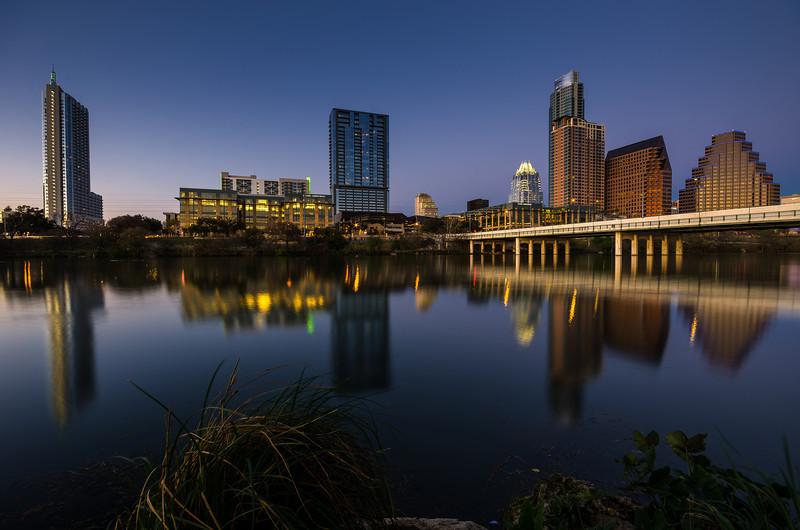 """Town Lake at Dusk"" Austin, Texas"