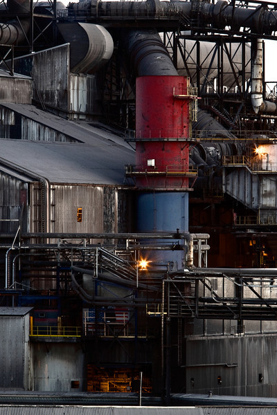 Steel Mill Close Up