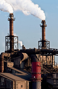 Steel Mill Stacks