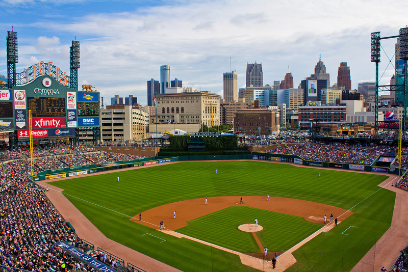 Comerica Park during the day