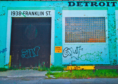"""Detroit Elevator Company,"" Rivertown District, Detroit, 2003."