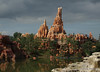 Big Thunder Mountain as seen from the train