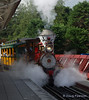 Number 1 arrives on the Disneyland Railroad at the Discoveryland Station
