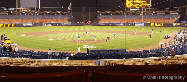 A view from behind home plate.