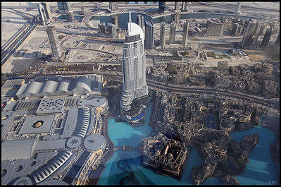 View of Dubai Skyline from the top of Burj Khalifa