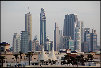 Dubai Skyline at Dusk, Jumeirah Beach