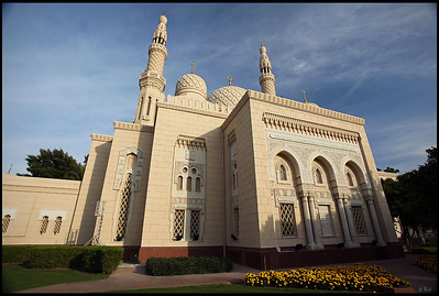 Jumeirah Mosque, late afternoon, Dubai
