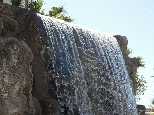 Waterfall outside of Tropicanna Hotel Las Vegas