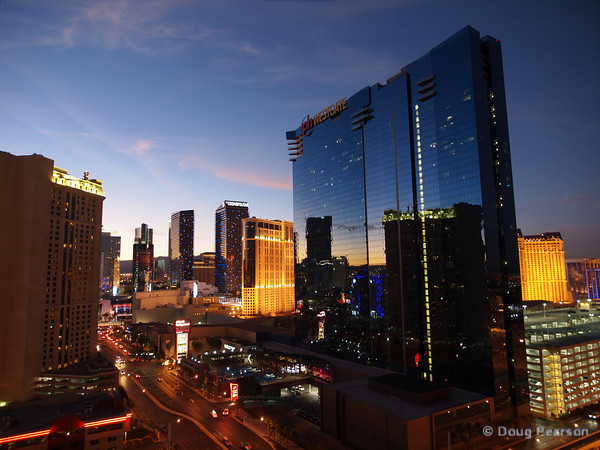 Las Vegas Strip at dusk