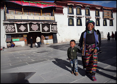 Tibetan Woman with Child, Barkhor Square