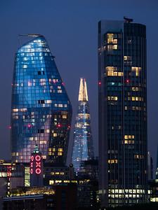 Skyline from Waterloo Bridge after Dusk