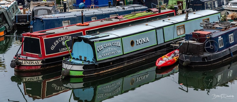 Narrowboats at Limehouse Marina