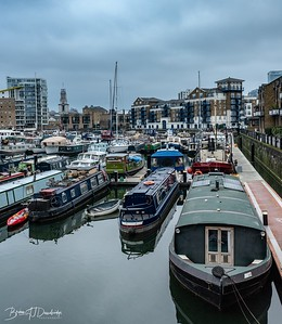 Narrowboats in Limehouse