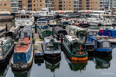 Boats a-plenty in Limehouse Marina