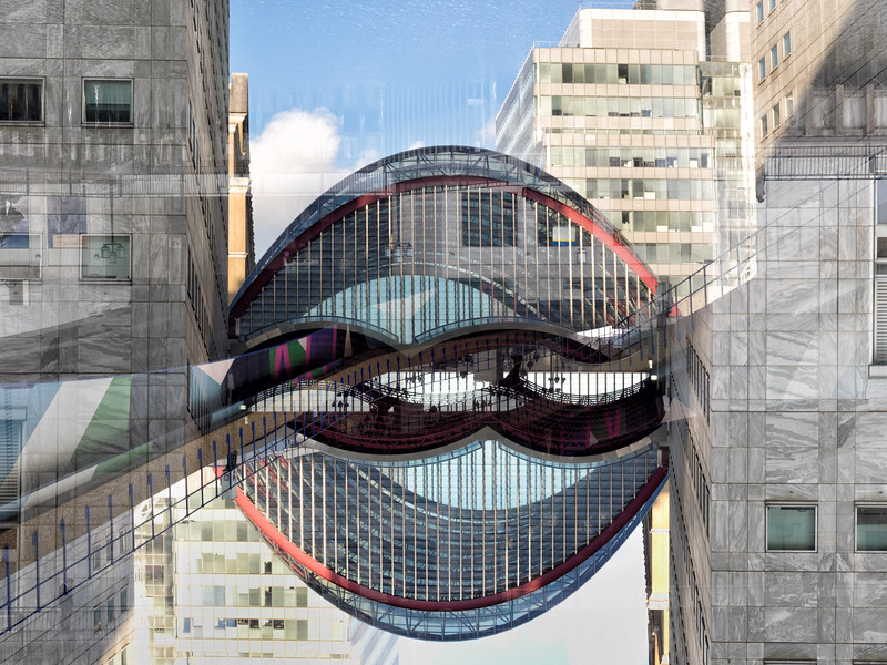 Double vision - Canary Wharf DLR