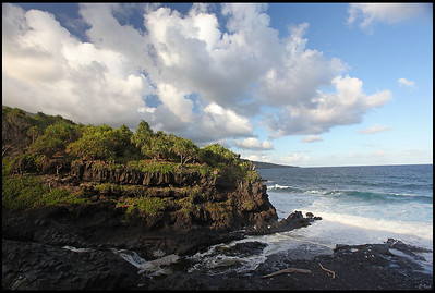 Rocky shoreline  Maui, Hawaii