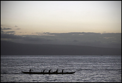 Sunset canoe  Maui, Hawaii