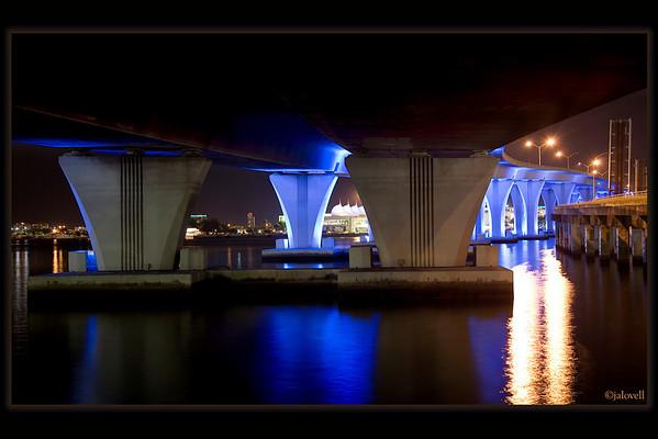 Dodge Island Bridge-Miami: View from underneath near BaySide