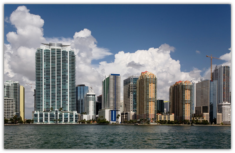 Brickell Avenue buildings from the ICW south of the Miami River.