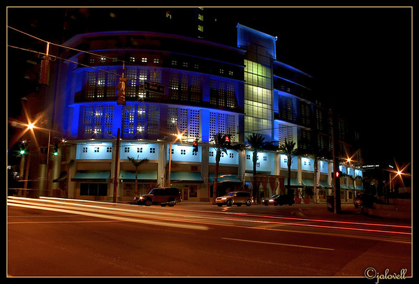 The Vue on South Miami Avenue<br /> Hard to resist stopping to capture its art deco look and cobalt blue lighting!
