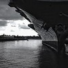 The Intrepid in black & white