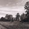 Abandoned building along the railroad tracks