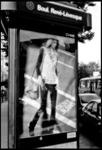 Lady at the bus stop