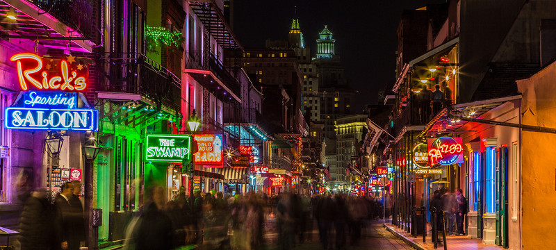 Bourbon Street New Orleans at Midnight