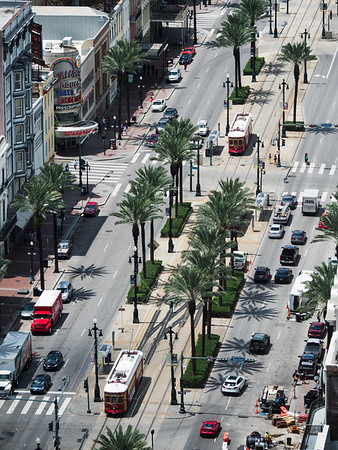Canal Street with streetcars