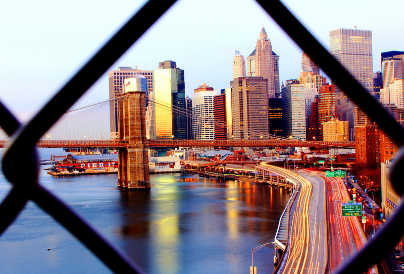 NYC Skyline from the Manhatten Bridge