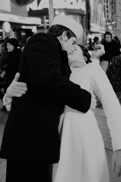 Reenactment Sailor Kissing Girl Time Square