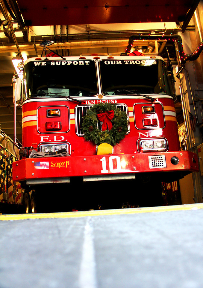 FDNY Ten House lost 6 firefighters on 9.11. It's located right across the street from ground zero.