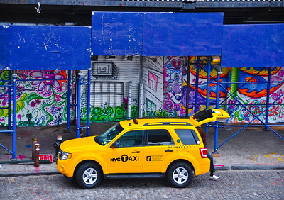 """White Shoe Descending From Yellow Cab,"" New York City, 2011."