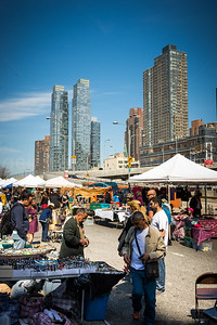 Flee market in Hells Kitchen in New York