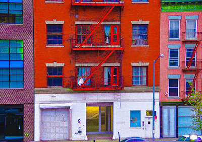 """Lady In White Sitting On Fire Escape,"" New York City, 2011."