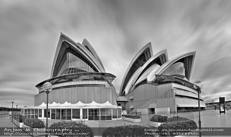 Sydney Opera House Black and White Anjan Mandal photography.