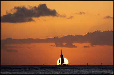 Sunset Sailing, Waikiki, Oahu