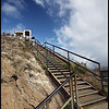Stairs toward the Top of Diamond Head Crater, Oahu, Hawaii