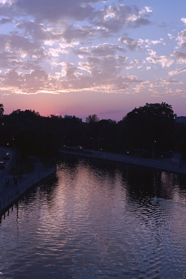 Sunser on Rideau Canal, from Bank Bridge
