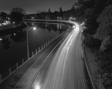 Colonel By Drive along the Rideau Canal, from east side of Bank Canal Bridge
