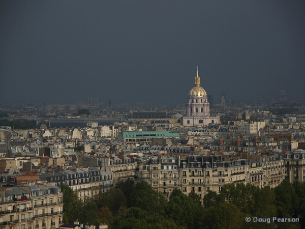 Les Invalides Palace, Paris from Eiffel tower
